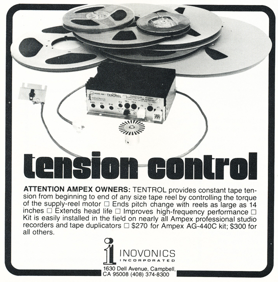 1975 ad for Inovonics  in Reel2ReelTexas.com's vintage recording collection