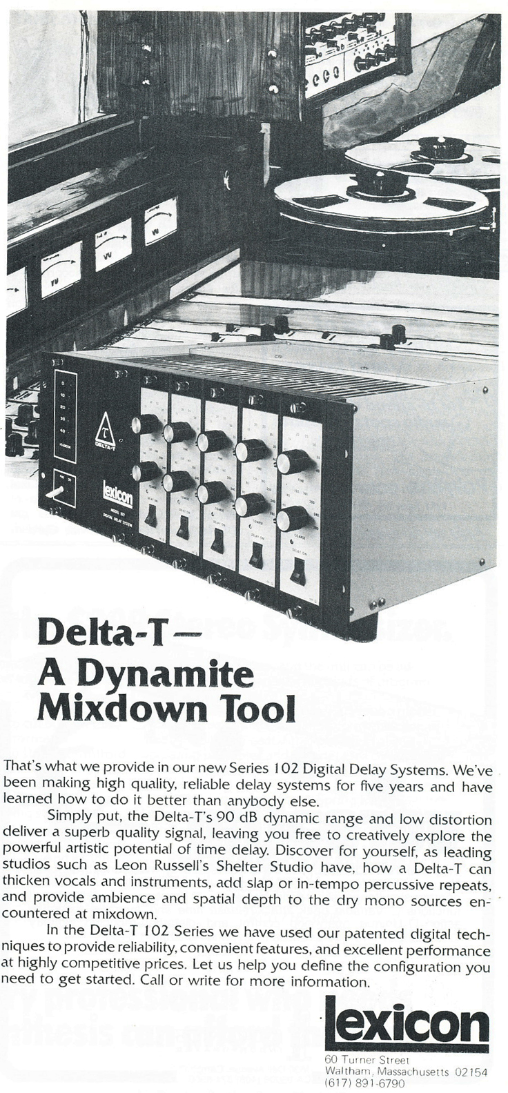 1975 ad for Lexicon in Reel2ReelTexas.com's vintage recording collection