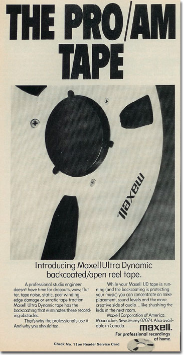 picture of 1975 Maxell tape ad