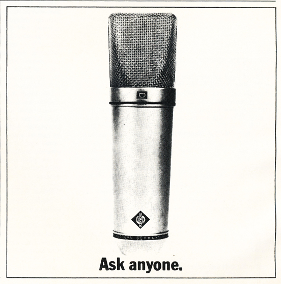 1975 ad for Neumann microphones in Reel2ReelTexas.com's vintage recording collection