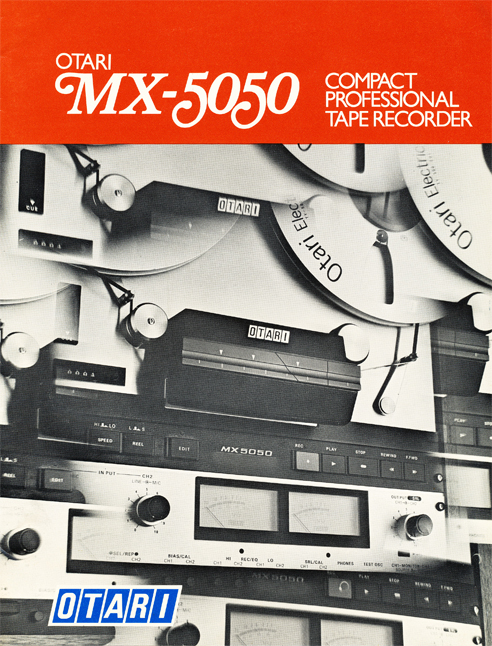 1975 Otari MX-5050 brochure in Reel2ReelTexas.com's vintage reel tape recorder collection