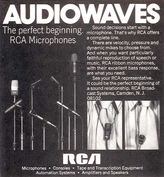 1975 RCA microphone ad in Reel2ReelTexas' vintage recording collection