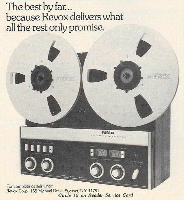 picture of 1975 Revox tape recorder ad