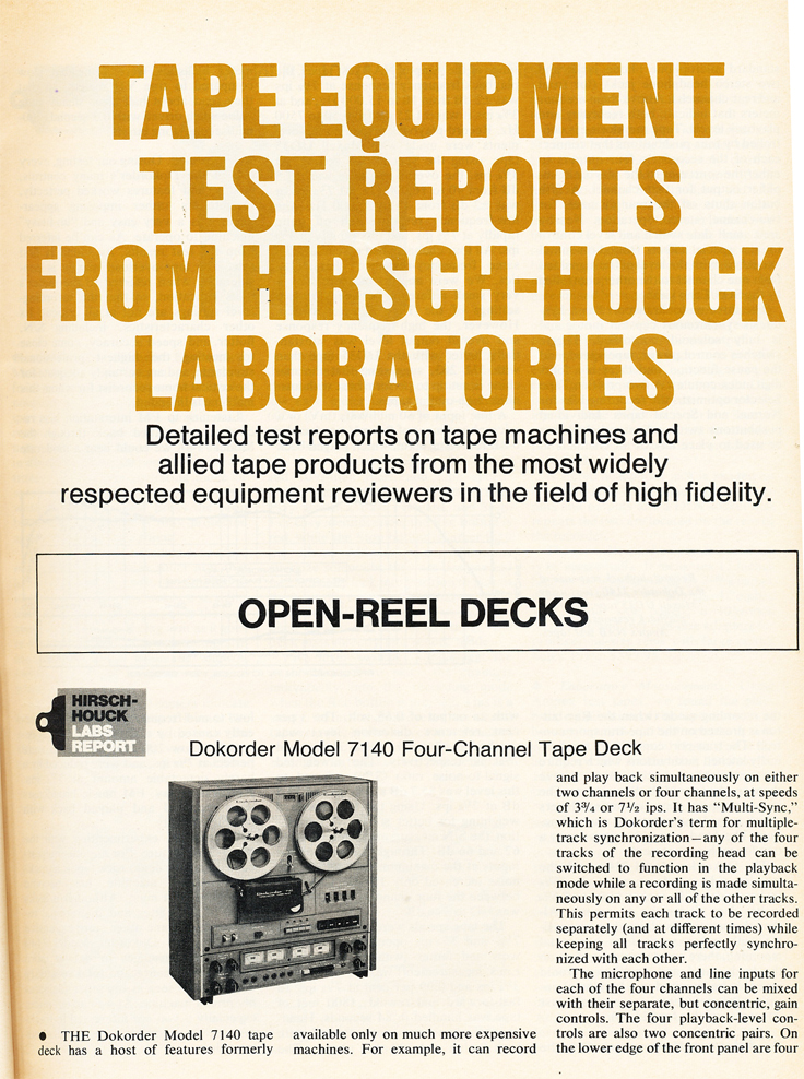 1975 Stereo Review Tape Issue review of the Dokorder 7140