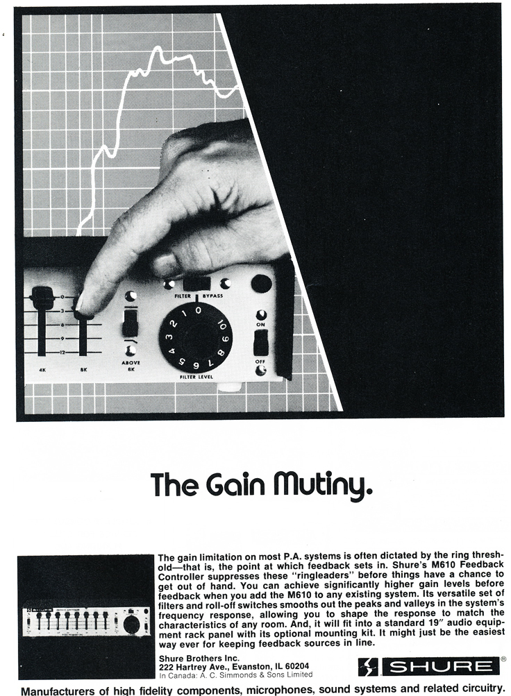 1975 ad for the Shure M160 in Reel2ReelTexas.com's vintage recording collection