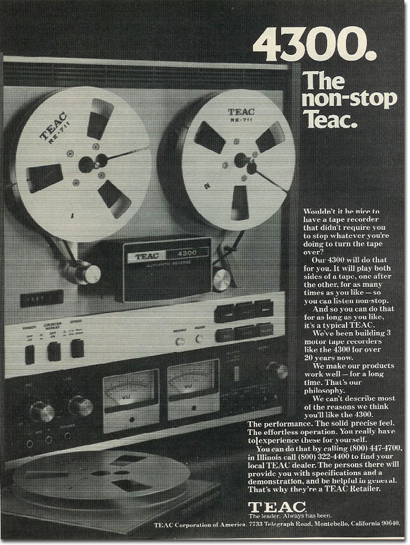picture of Teac 4300 ad