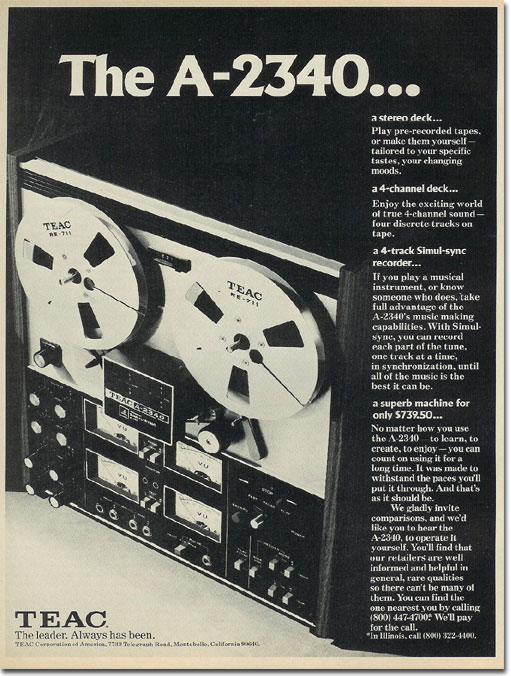picture of Teac 2340 ad
