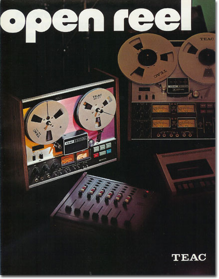 Teac brochure pages from 1975