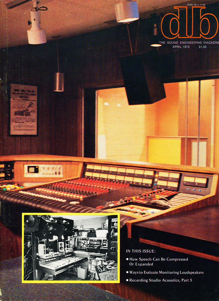 April 1975 db magazine cover in Reel2ReelTexas.com's vintage recording collection