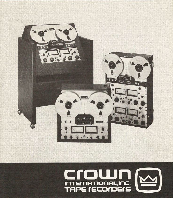 1976 Crown professional reel to reel tape recorder brochure in the Reel2ReelTexas.com's vintage recording collection