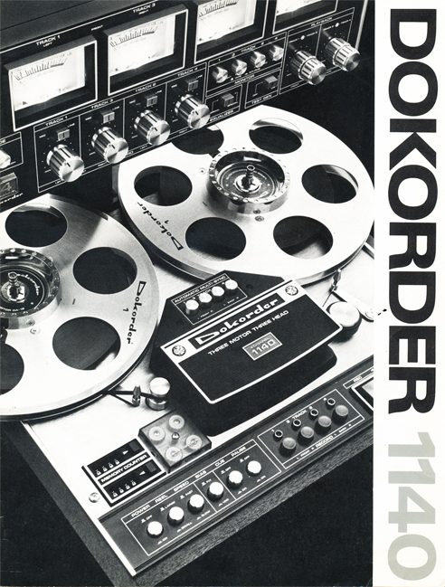 Cover of 1976 Dokorder 1140 tape recorder brochure in Reel2ReelTexas.com vintage reel to reel tape recorder collection