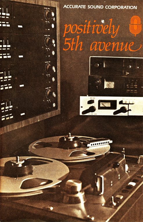 Cover of 1977 Accurate Sound Company's catalog in Reel2ReelTexas.com's vintage reel tape recorder collection