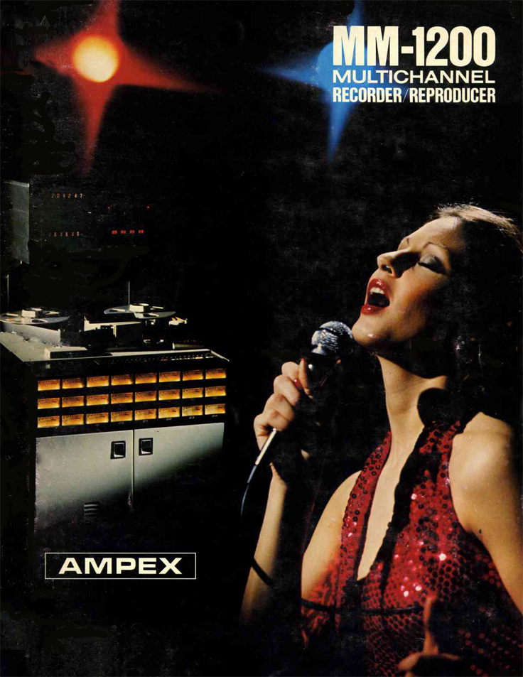 1977 ad for the Ampex MM-1200 professional multichannel reel to reel tape recorder in Reel2ReelTexas.com's vintage recording collection