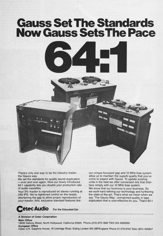 1977 ad for Cetex products  in Reel2ReelTexas.com's vintage recording collection