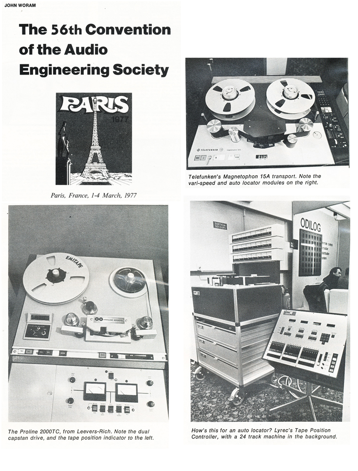 1977 Paris AES show reel tape recorders in Reel2ReelTexas' vintage recording collection