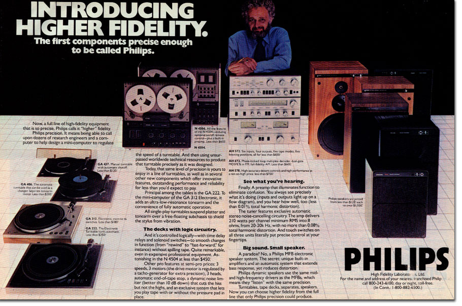 picture of Philips ad from 1977