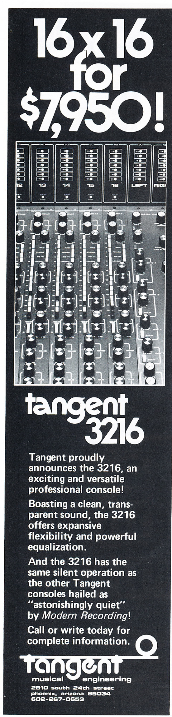 1977 ad for Tangent consoles in Reel2ReelTexas' vintage tape recorder collection