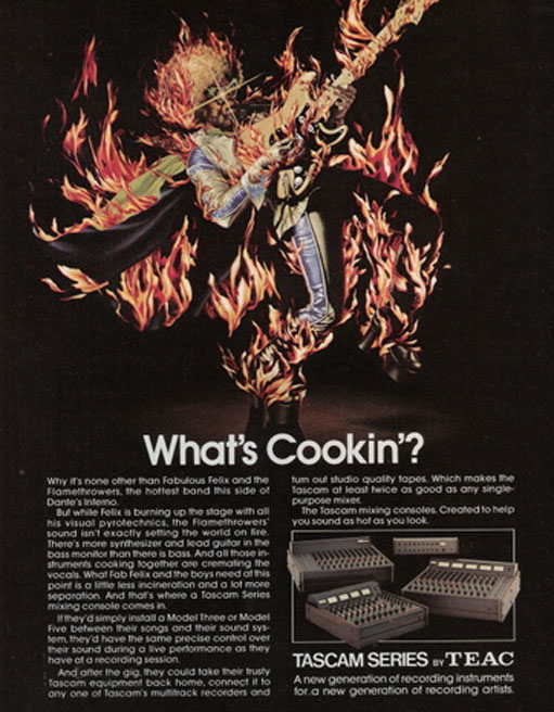 picture of 1977 Teac Home Cookin' ad in Phantom's vintage reel to reel collection