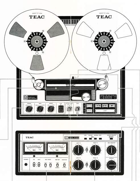 1977 operating manual page for the Teac Tascam Series 25-2 in Phantom Productions' vintage reel tape recording collection