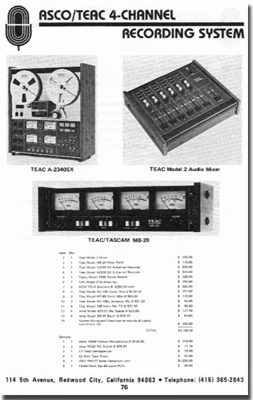 picture of Teac products in Accurate Sound catalog