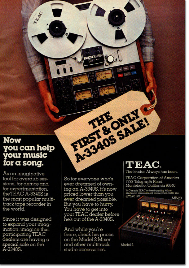 picture of Teac ad from 1977