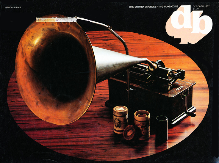 1977 cover of the db magazine featuring early audio technology in Reel2ReelTexas.com's vintage recording collection