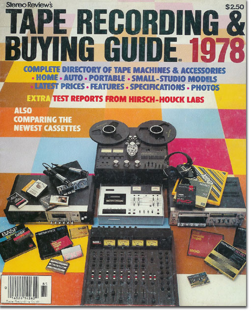 picture of 1978 cover of Tape Recorder Buying Guide