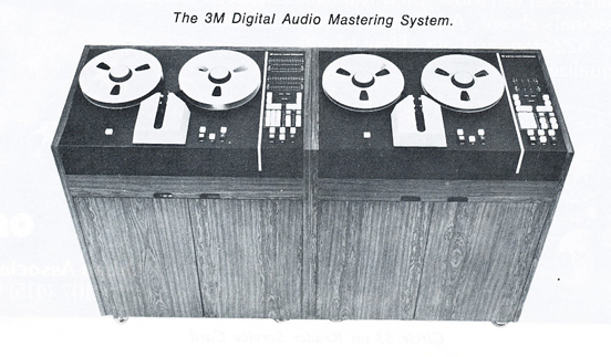 1978 ad for the 3M digital audio mastering  reel to reel tape recorder in Reel2ReelTexas.com's vintage recording collection
