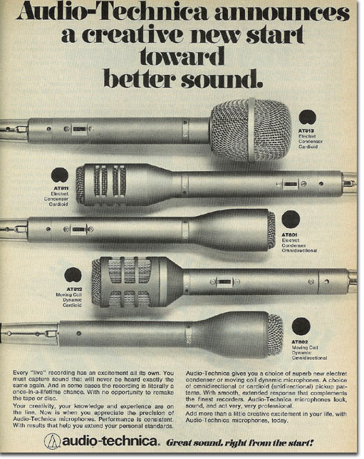 picture of 1978 Audio Technica ad