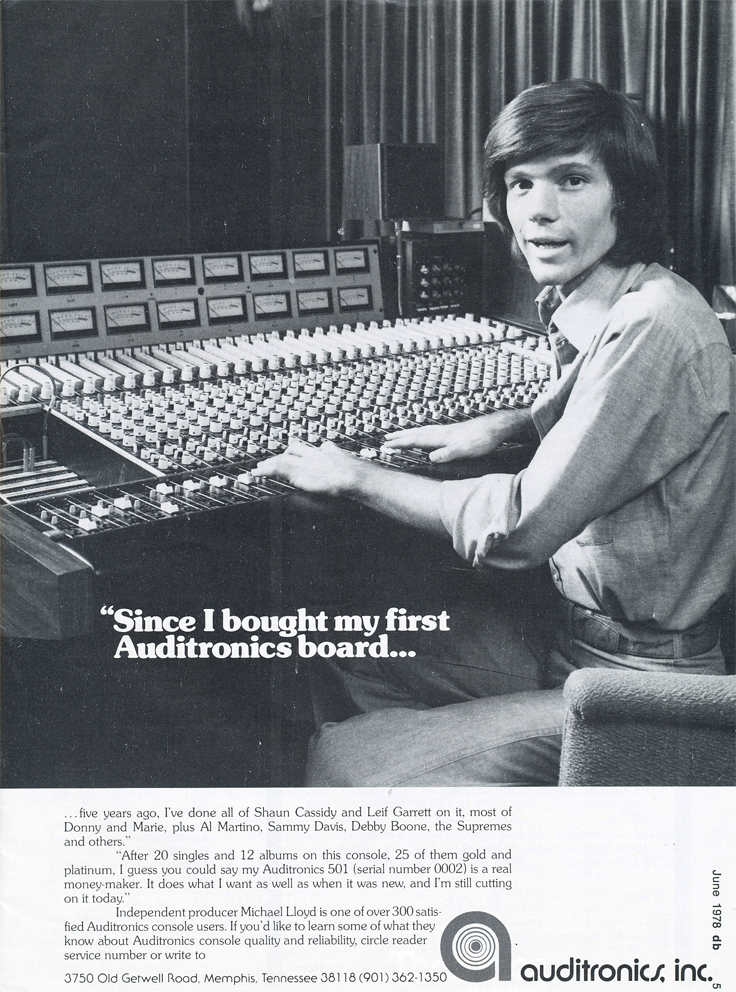 1978 ad for Audiotronics in Reel2ReelTexas.com's vintage recording collection