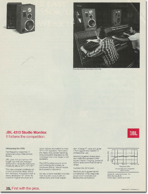 picture of 1978 JBL ad