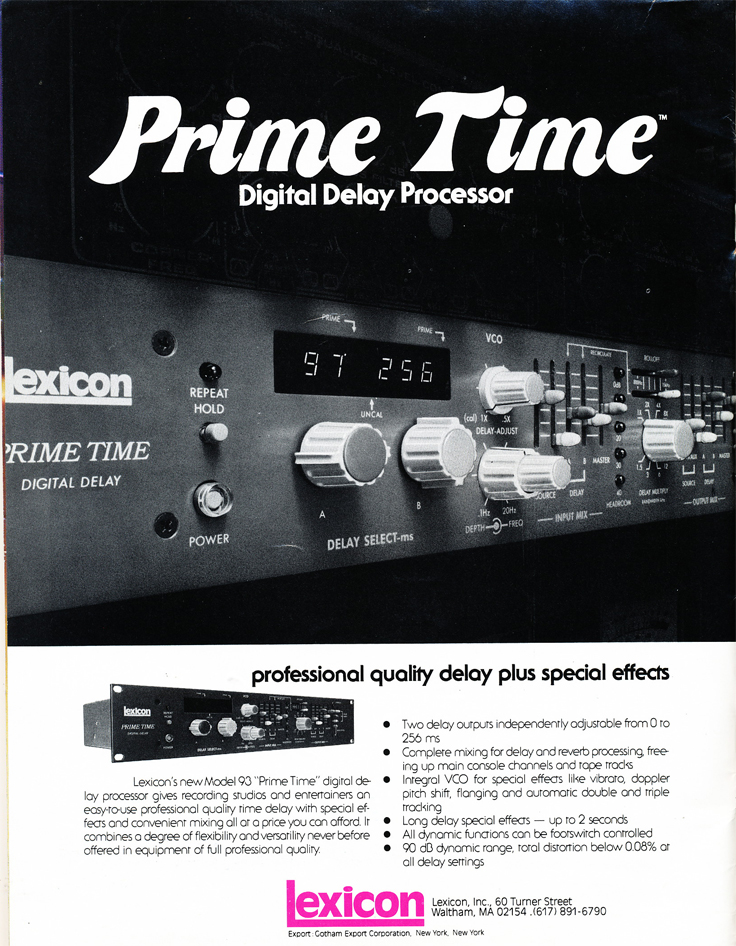1978 ad forLexicon in Reel2ReelTexas.com's vintage recording collection