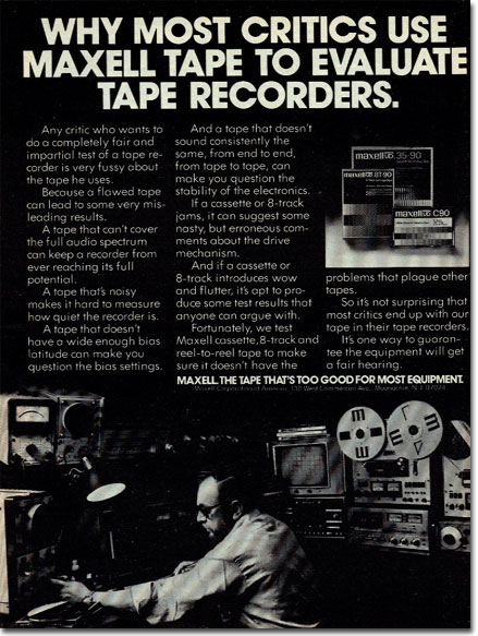 picture of Maxell Tape ad