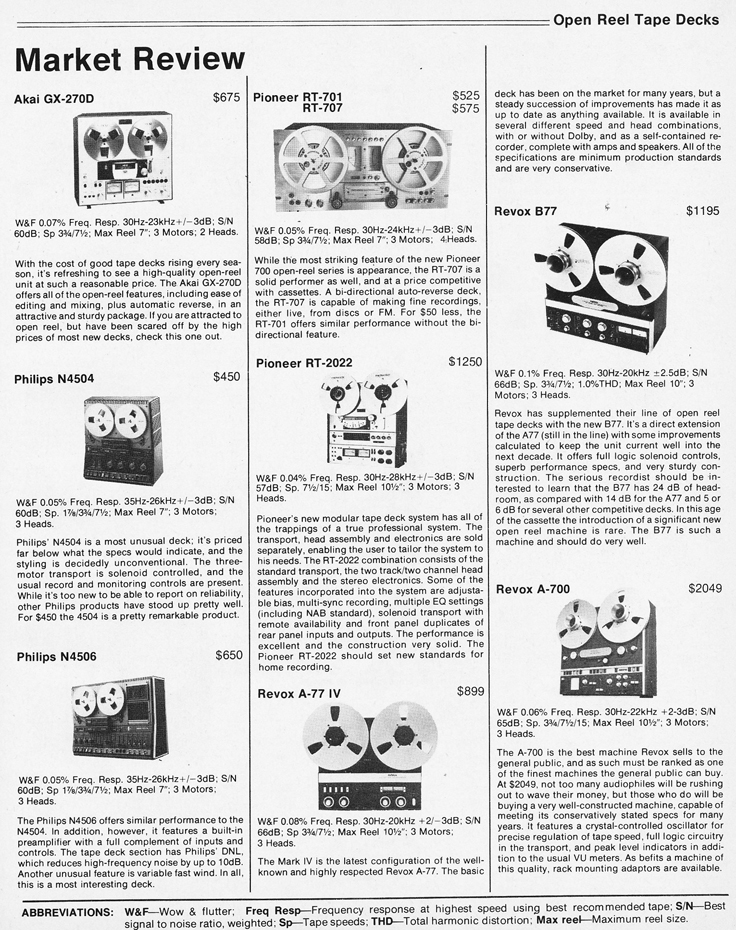 1978 Stereo HiFi Equipment Annual profiling reel to rel tape recorders in Reel2ReelTexas' vintage recording collection