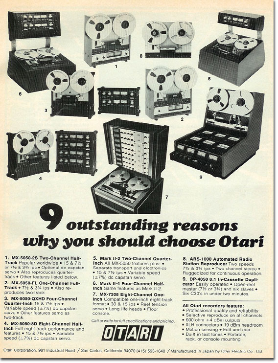 picture of 1978 Otari ad