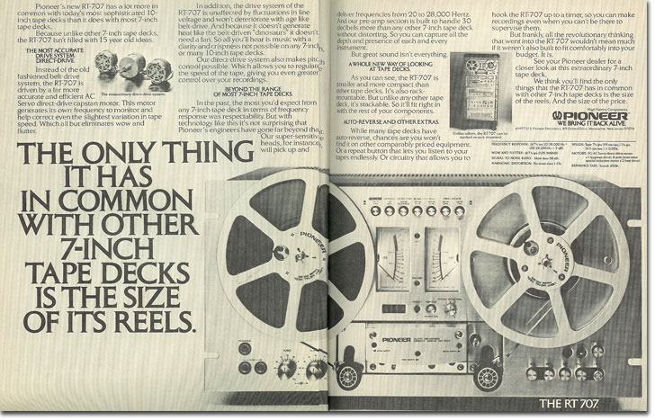 picture of 1978 Pioneer RT-707 ad