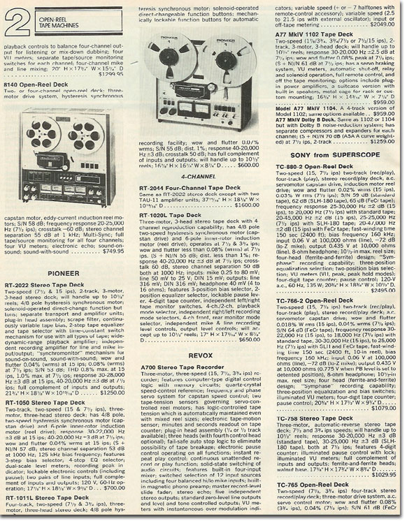 picture of 1978 tape recorder summaries