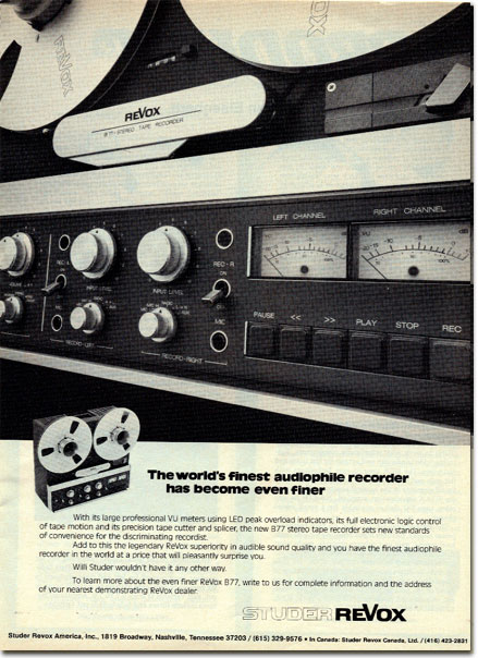 picture of ReVox recorder ad