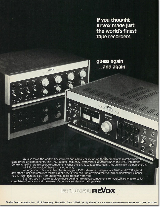 picture of 1978 Revox ad