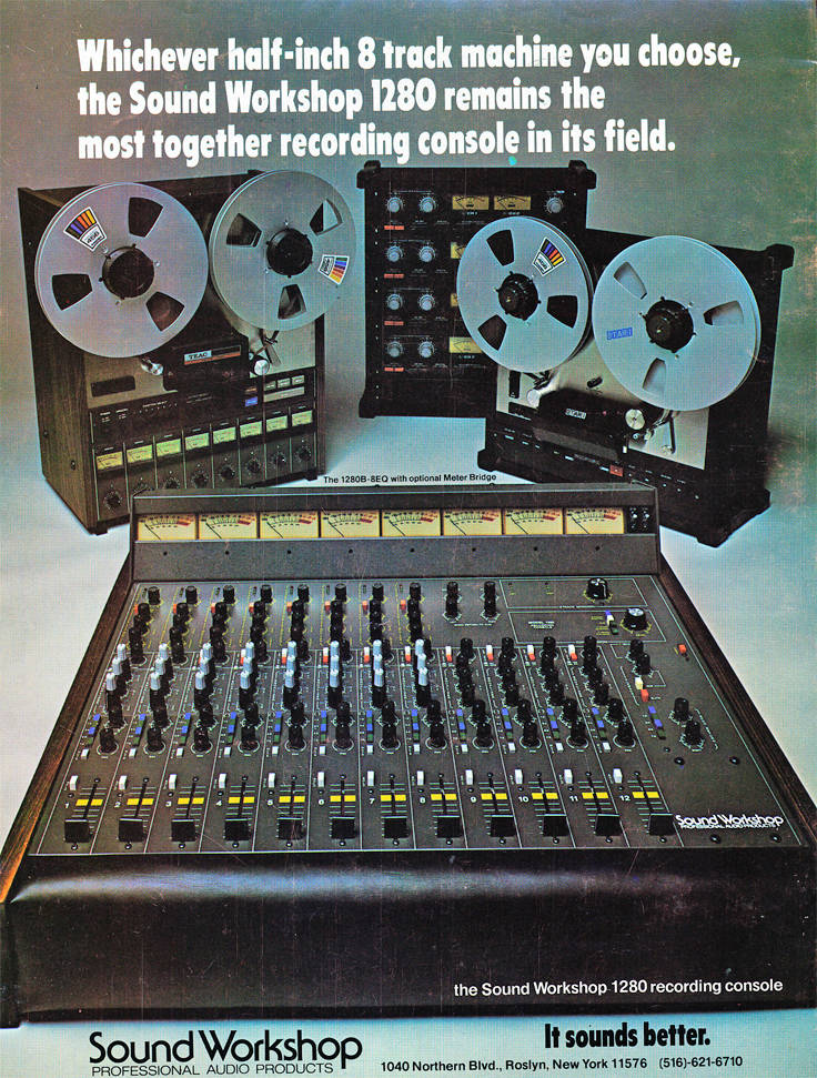 1978 ad for the Sound Workshop console in Reel2ReelTexas.com's vintage recording collection