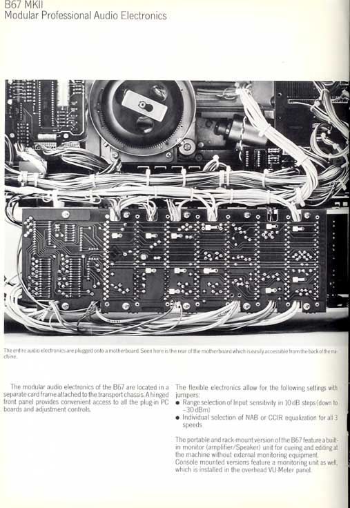 1978 Studer B67 brochure in Reel2ReelTexas' vintage recording collection