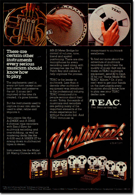 picture of Teac recorder ad