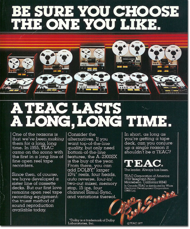 picture of 1978 Teac ad