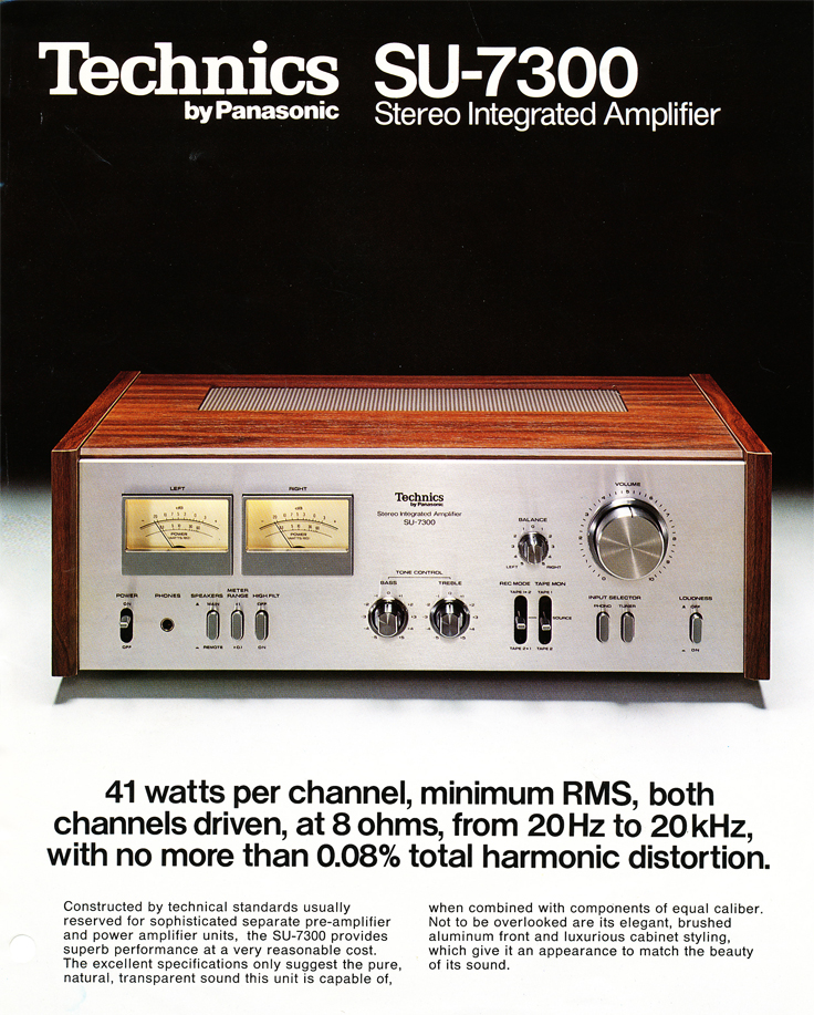 1978 ad for the Technics SU-7300 amplifier in Phantom Productions' vintage tape recording collection.   The amp was used by Phantom for onlocation recording support