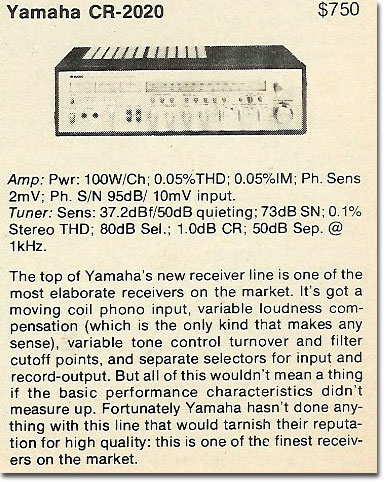 picture of 1978 Yamaha CR-2020 ad