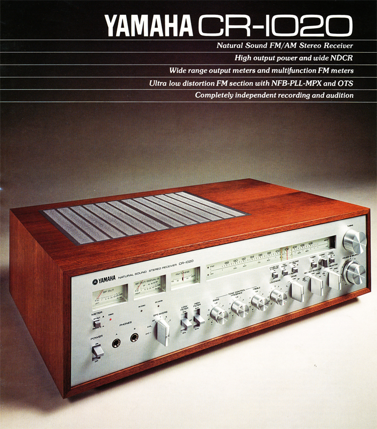 1978 ad for the Yamaha CR-1020 amplifier in Phantom Productions' vintage tape recording collection.   The amp was used by Phantom for mastering recordings.