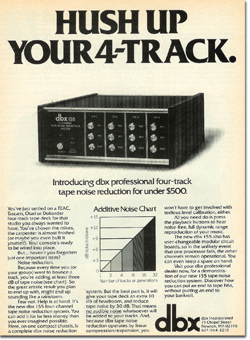 picture of 1978 dbx ad