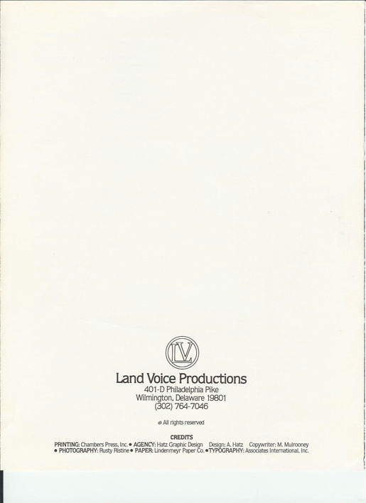 1979 Land Voice brochure for recording studio franchise