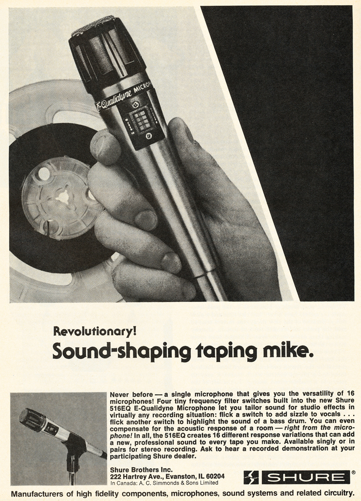 1979 Shure 526EQ microphone ad in Reel2ReelTexas.com's vintage recording collection