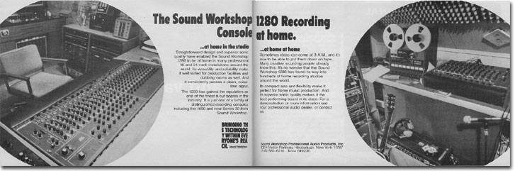 picture of 1979 ad for Soundworkshop console